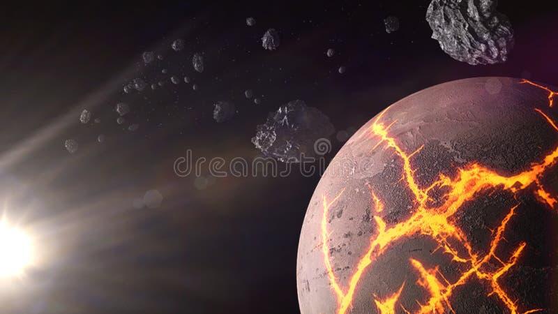 Planety i galaxy, kosmos, fizyczna kosmologia royalty ilustracja