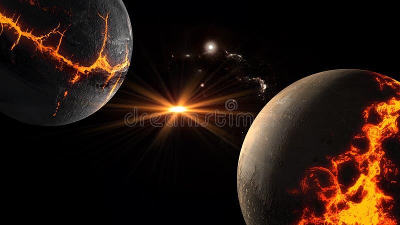 Planety i galaxy, nauki fikci tapeta Pi?kno g??boka przestrze? Miliardy galaxy w wszechrzeczym Pozaziemskim sztuki tle, Ver zdjęcie royalty free