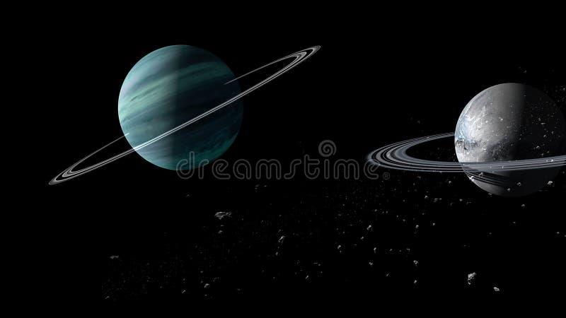 Planety i galaxy, nauki fikci tapeta Pi?kno g??boka przestrze? Miliardy galaxy w wszechrzeczym Pozaziemskim sztuki tle, Ver obraz royalty free