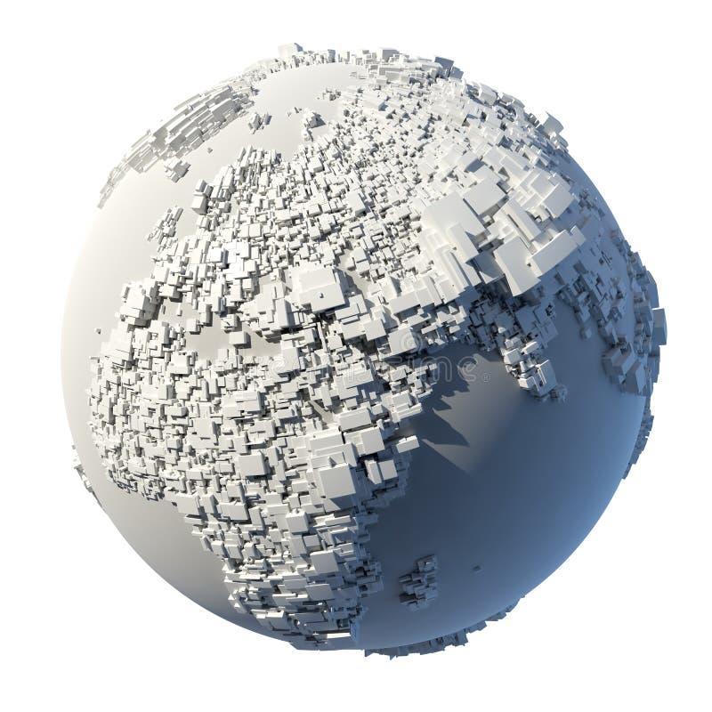 planety kubiczna ziemska struktura ilustracji