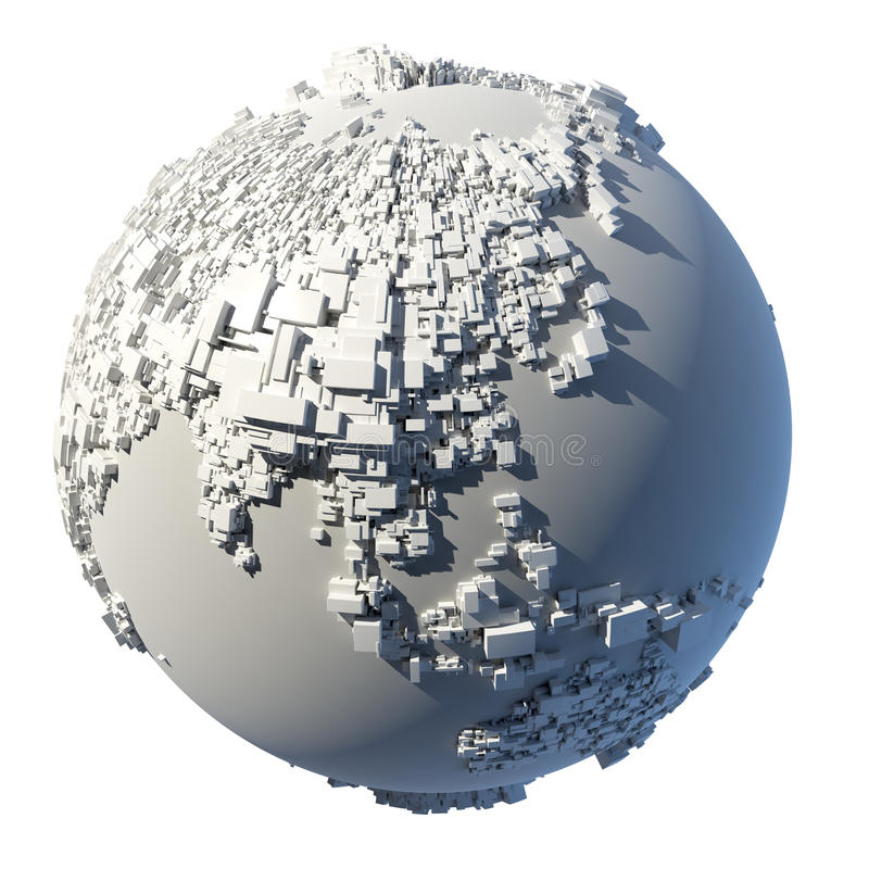 planety kubiczna ziemska struktura royalty ilustracja