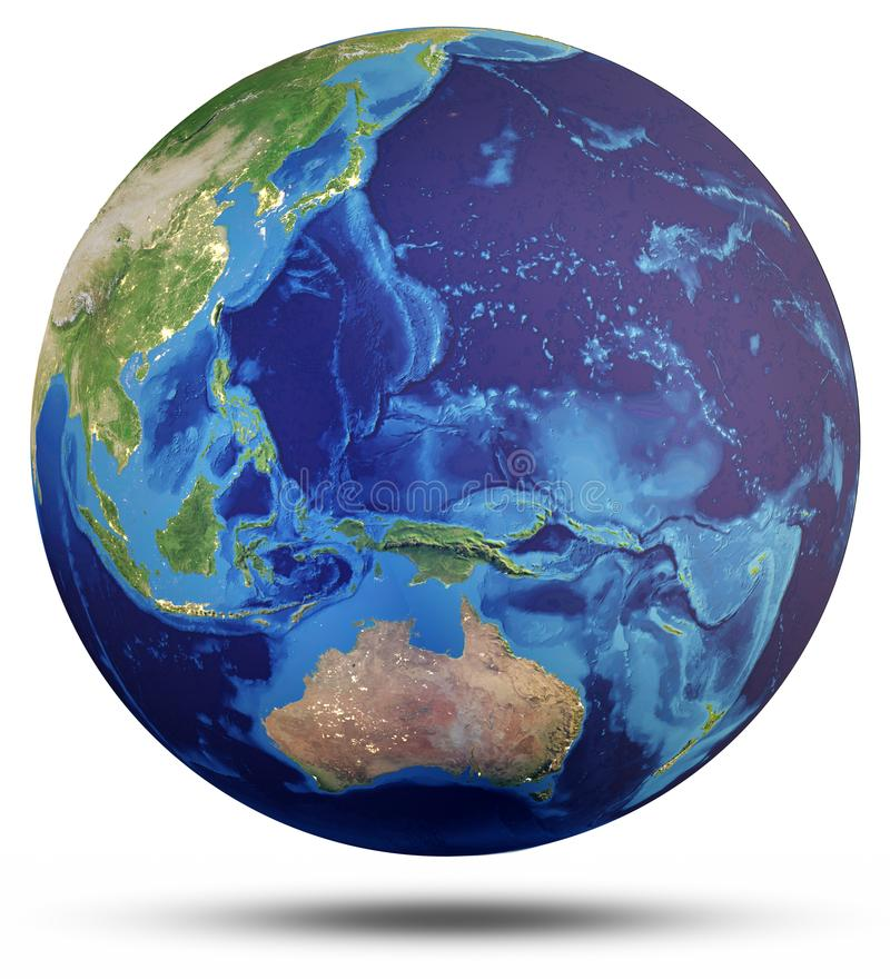 Planety kuli ziemskiej 3d Ziemski światowy rendering royalty ilustracja
