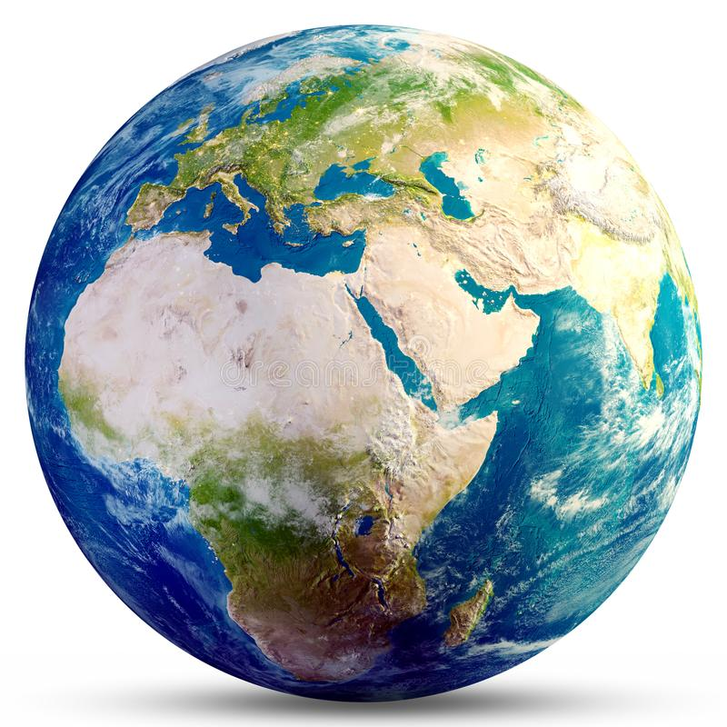 Planety kuli ziemskiej 3d Ziemski rendering royalty ilustracja