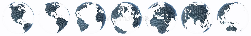 Planety kuli ziemskiej Ziemski abstrakcjonistyczny set ilustracja wektor