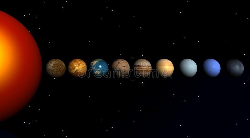 planety słońce ilustracja wektor