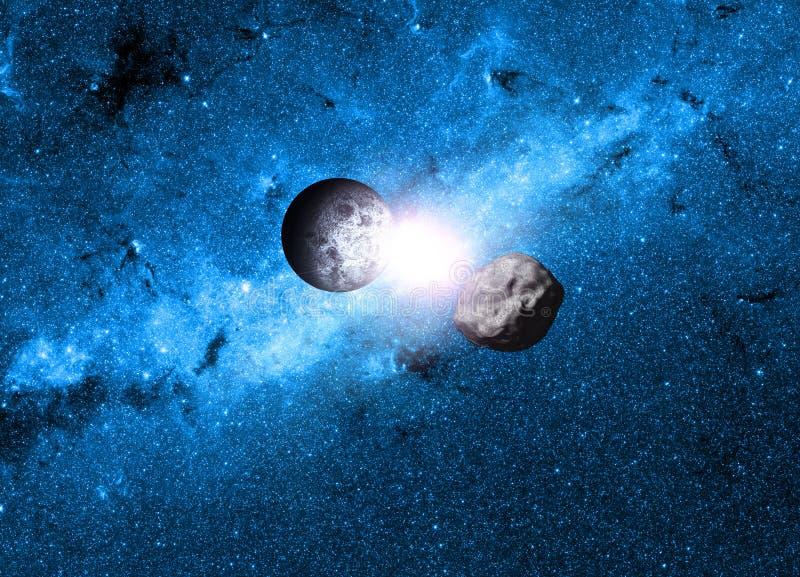 planety tła naziemnych pełne gwiazd royalty ilustracja