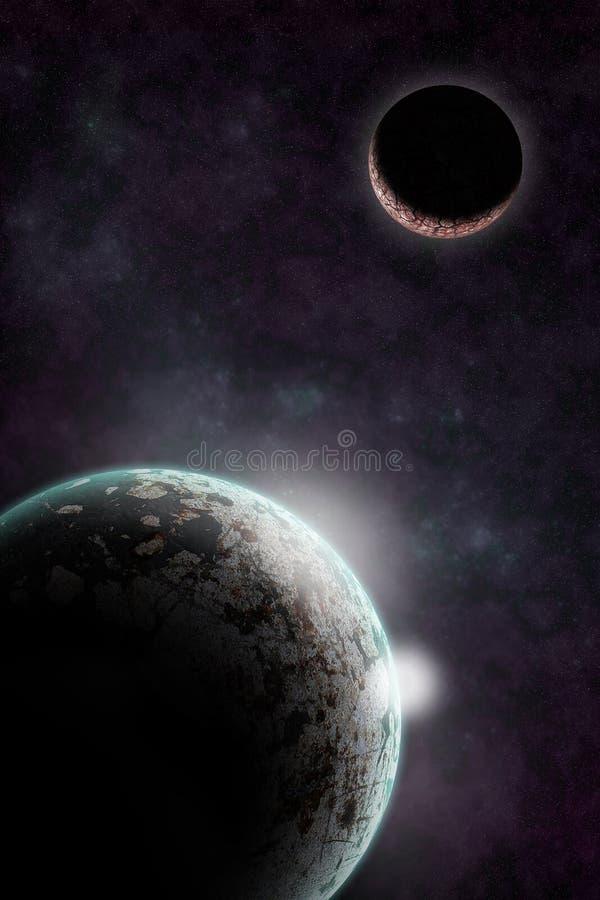 Planety w astronautycznej mobilnej tapecie royalty ilustracja