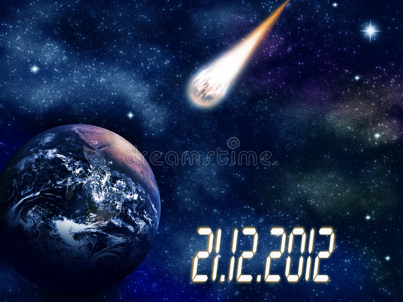 Planety ziemia w przestrzeni. ilustracja wektor