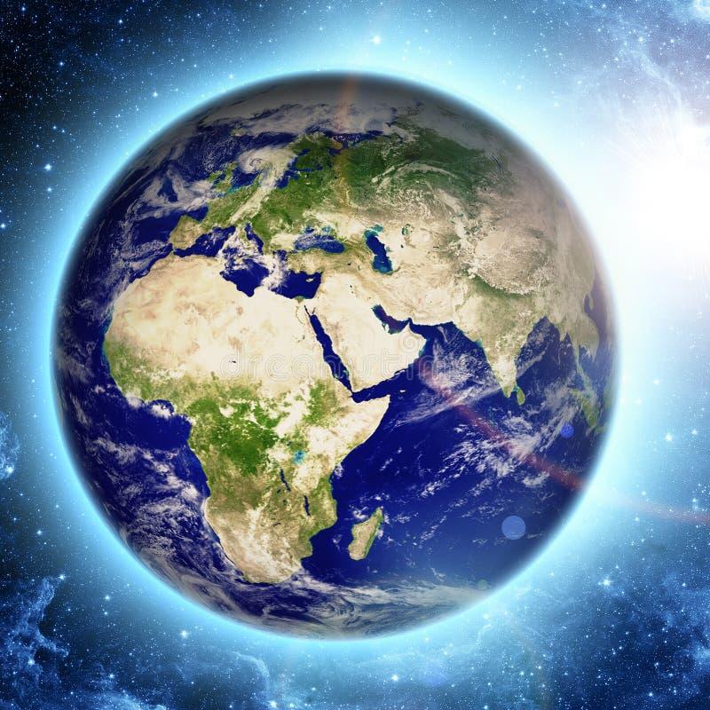 Planety ziemia w przestrzeni ilustracji