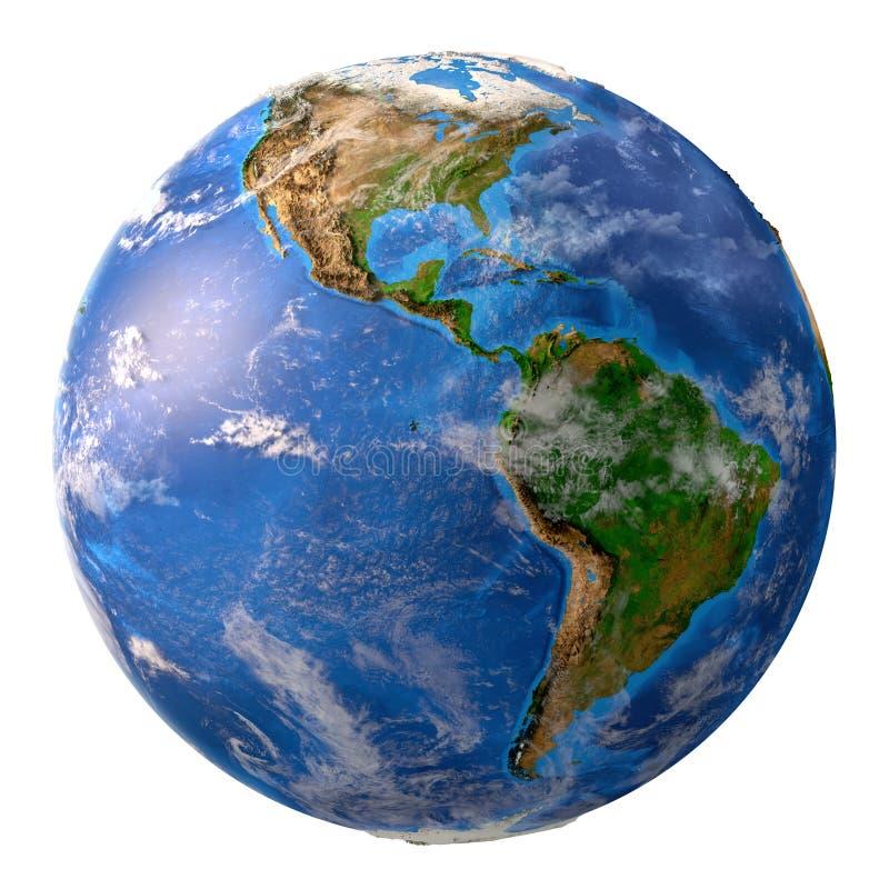 Planety ziemia w wysoka rozdzielczość royalty ilustracja