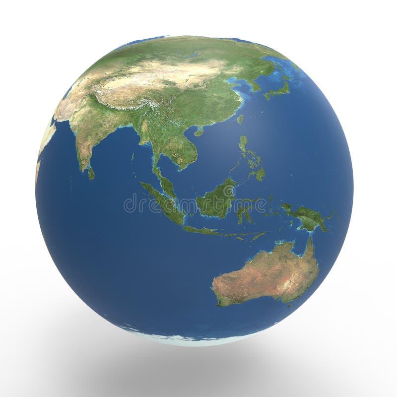 Planety Ziemska wschodnia część ilustracja wektor