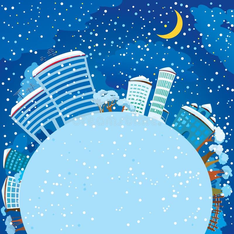 planety zima ilustracji