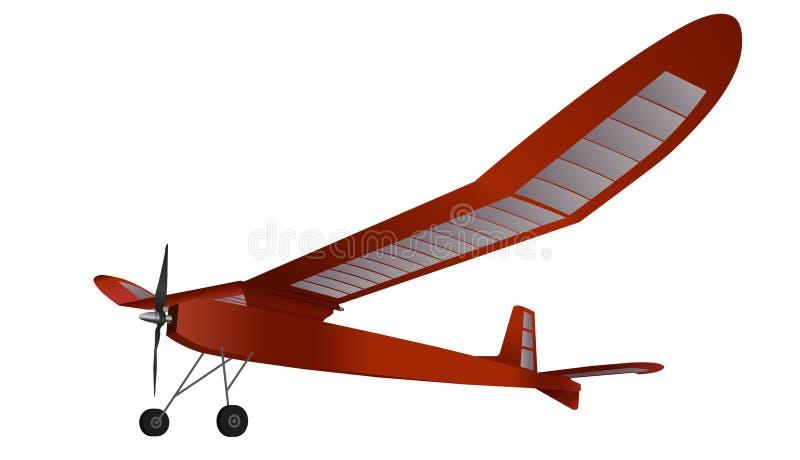 Planeur modèle, avion rouge de vol illustration libre de droits