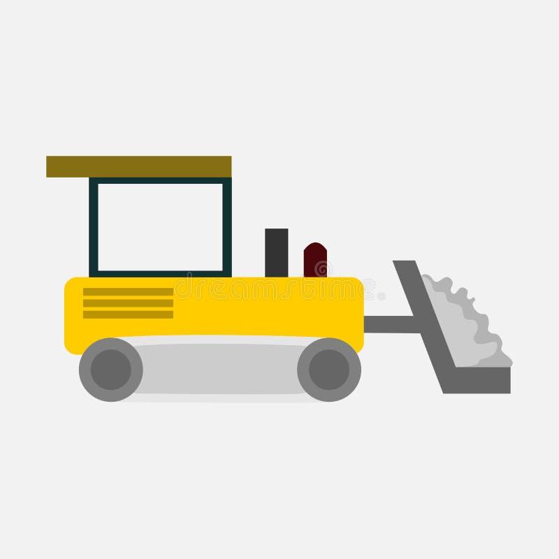 planierraupenschweres fahrzeugtransportvektor