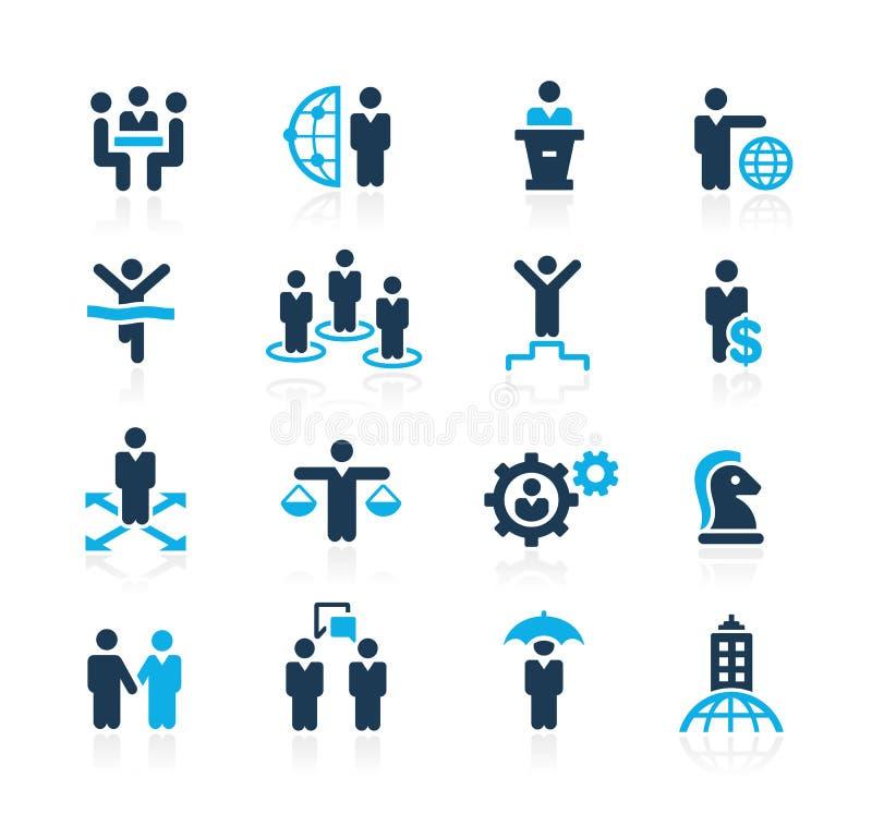 Planierungserfolg und Geschäftsstrategien //Azure Series lizenzfreie abbildung