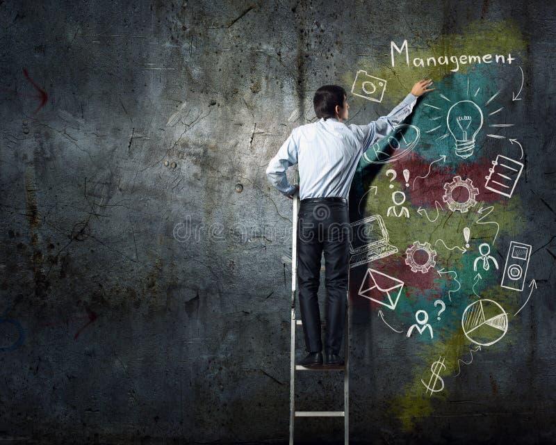 Planificación como llave al éxito imagen de archivo