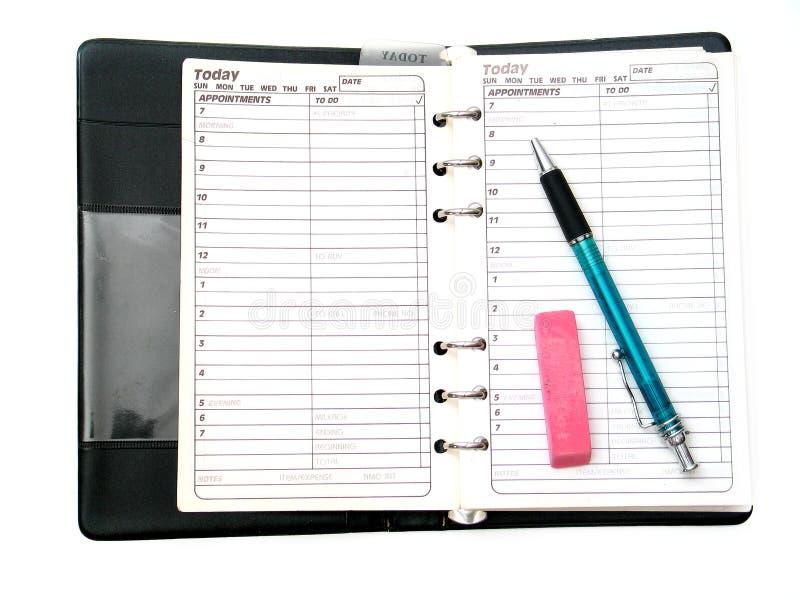 Planificación a continuación foto de archivo
