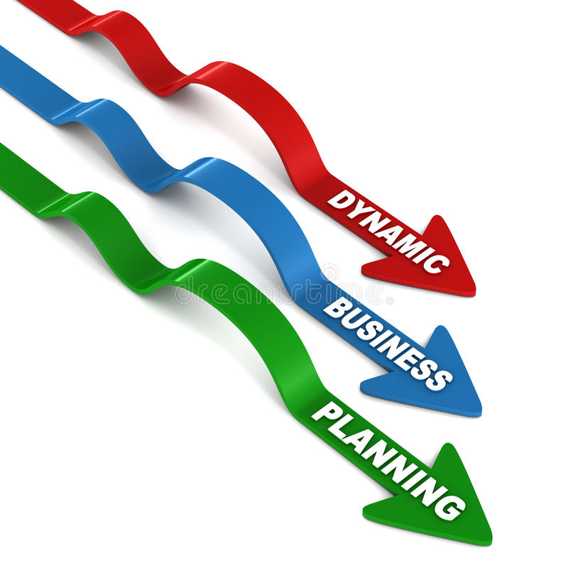 Planificación de empresas dinámica ilustración del vector