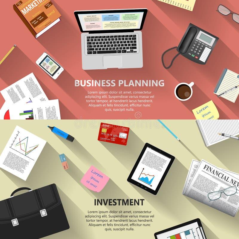 Planificación de empresas y concepto de la inversión ilustración del vector
