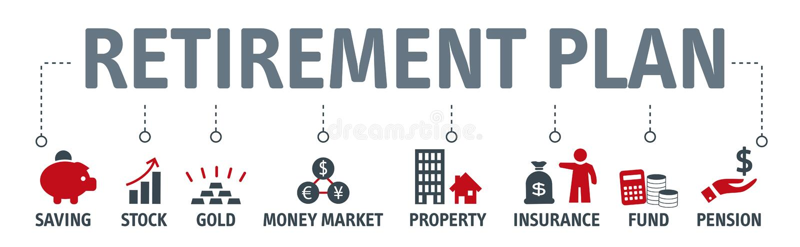 Planificación de la jubilación, negocio, finanzas, actividades bancarias conceptuales libre illustration