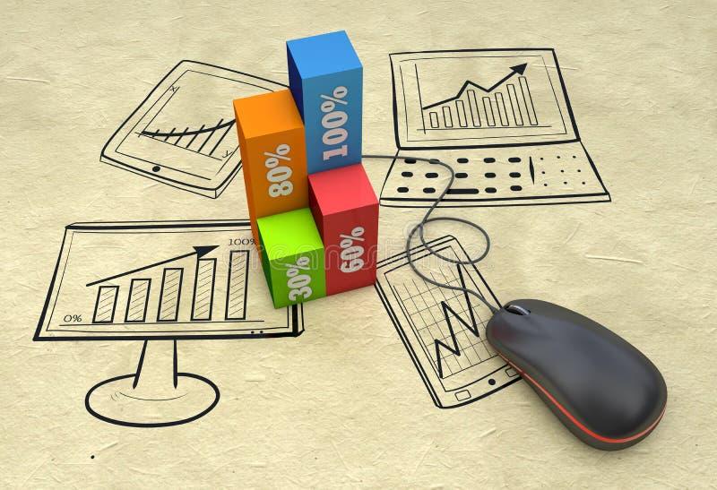 Planificación de mercados imagen de archivo