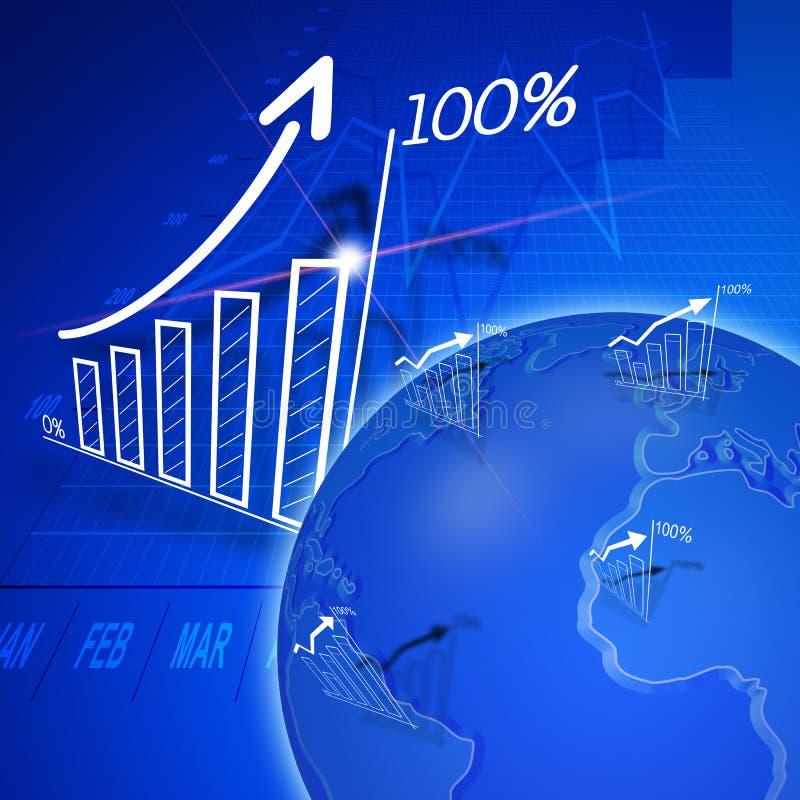 Planificación de mercados ilustración del vector