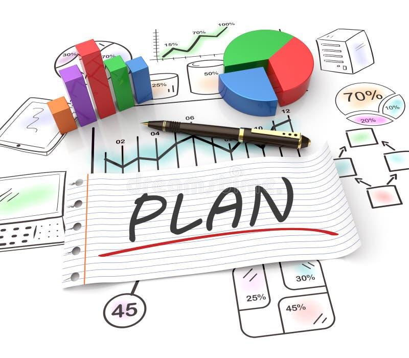 Planificación de mercados stock de ilustración