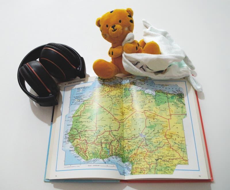 Planificación de un viaje en África imágenes de archivo libres de regalías