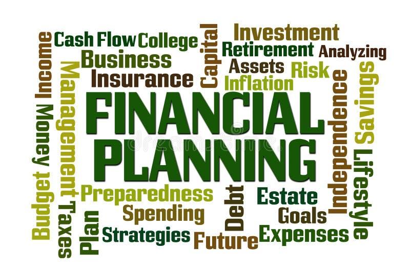 Planificación financiera ilustración del vector