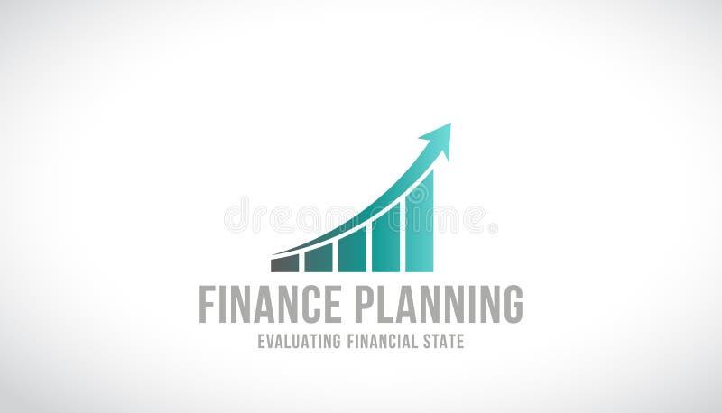 Planificación financiera Logo Vector Design ilustración del vector