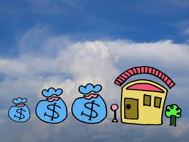 Planificación financiera para construir un hogar fotos de archivo libres de regalías