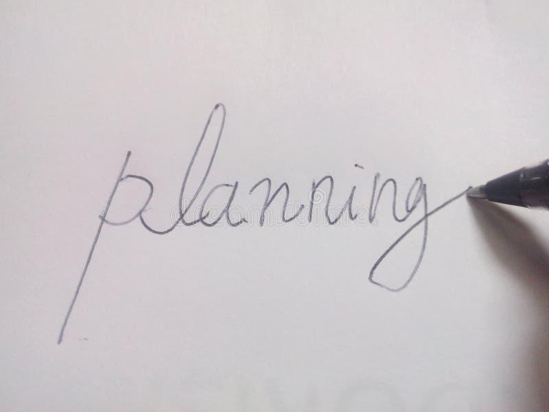 Planificaci?n fotos de archivo libres de regalías