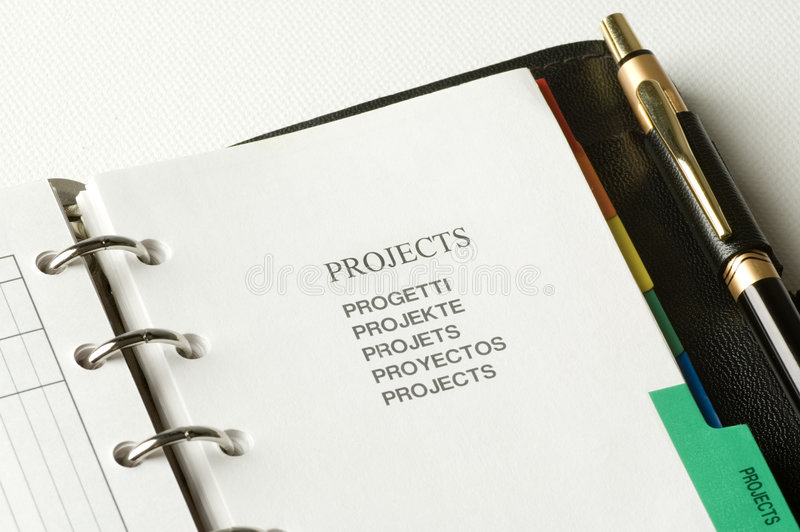 Planificador fotos de archivo