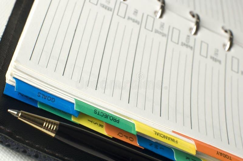 Planificador imágenes de archivo libres de regalías