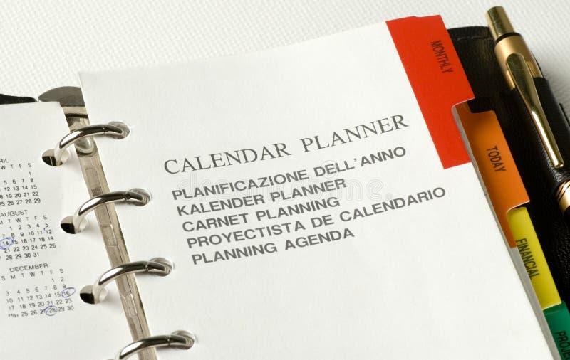 Planificador foto de archivo libre de regalías