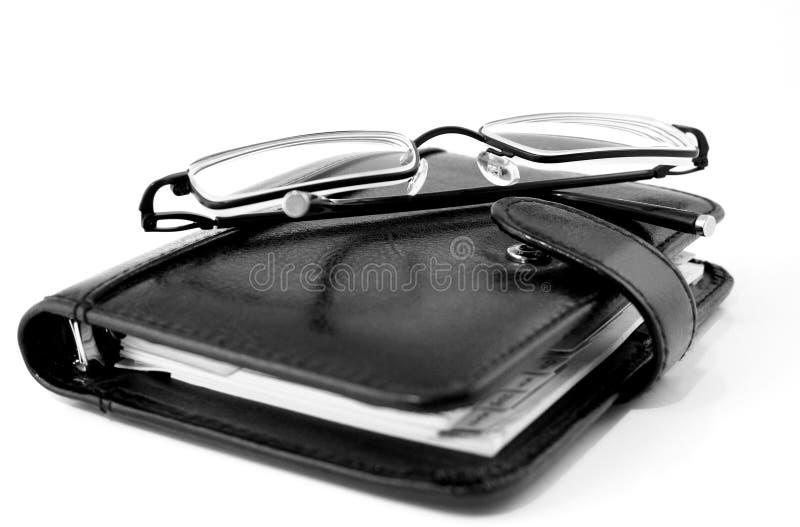 Planificador del asunto foto de archivo libre de regalías