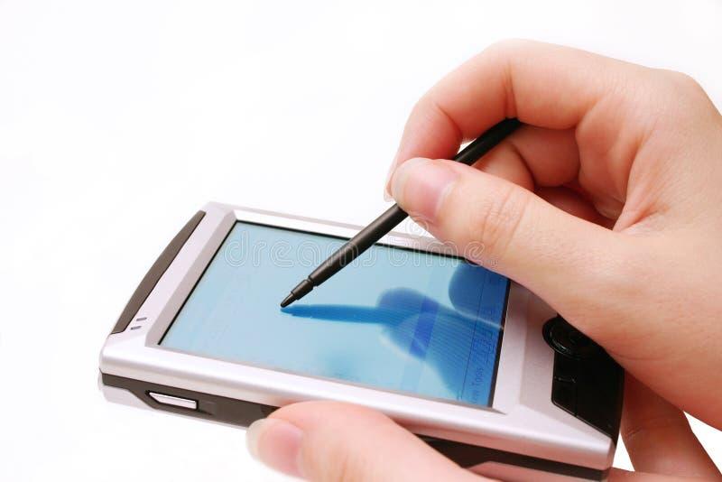 Planificador del bolsillo foto de archivo libre de regalías