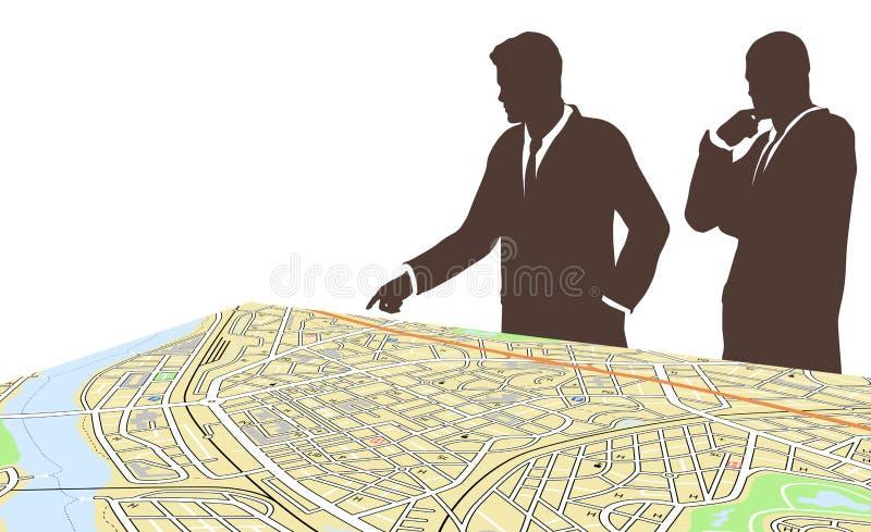 Planificadores de la ciudad stock de ilustración