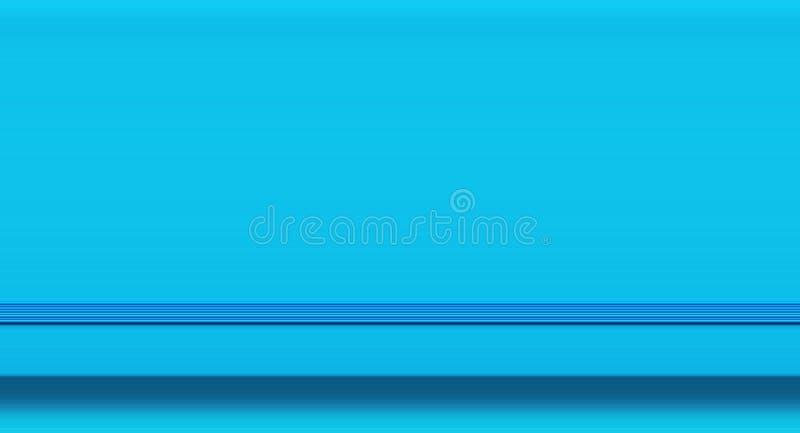 Planificateur bleu de jour de fond abstrait d'affaires avec la bande élastique Style féminin minimaliste Concept indépendant de f illustration libre de droits