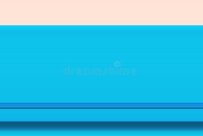 Planificateur bleu de jour de fond abstrait d'affaires avec la bande élastique sur pâle - contexte rose Style féminin Femmes d'af illustration de vecteur