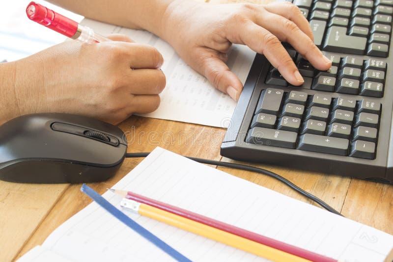 Planificateur de carnet, relevé de compte financier pour le travail d'affaires photo stock