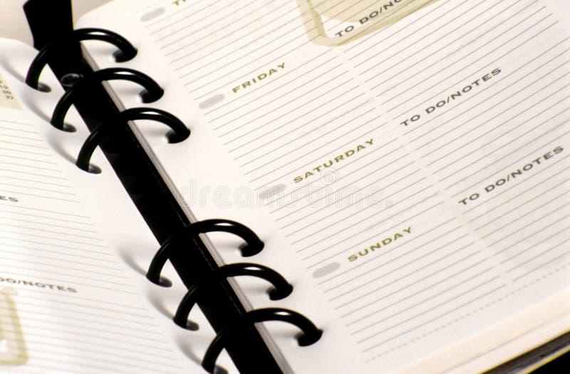 Planificateur de jour photos libres de droits