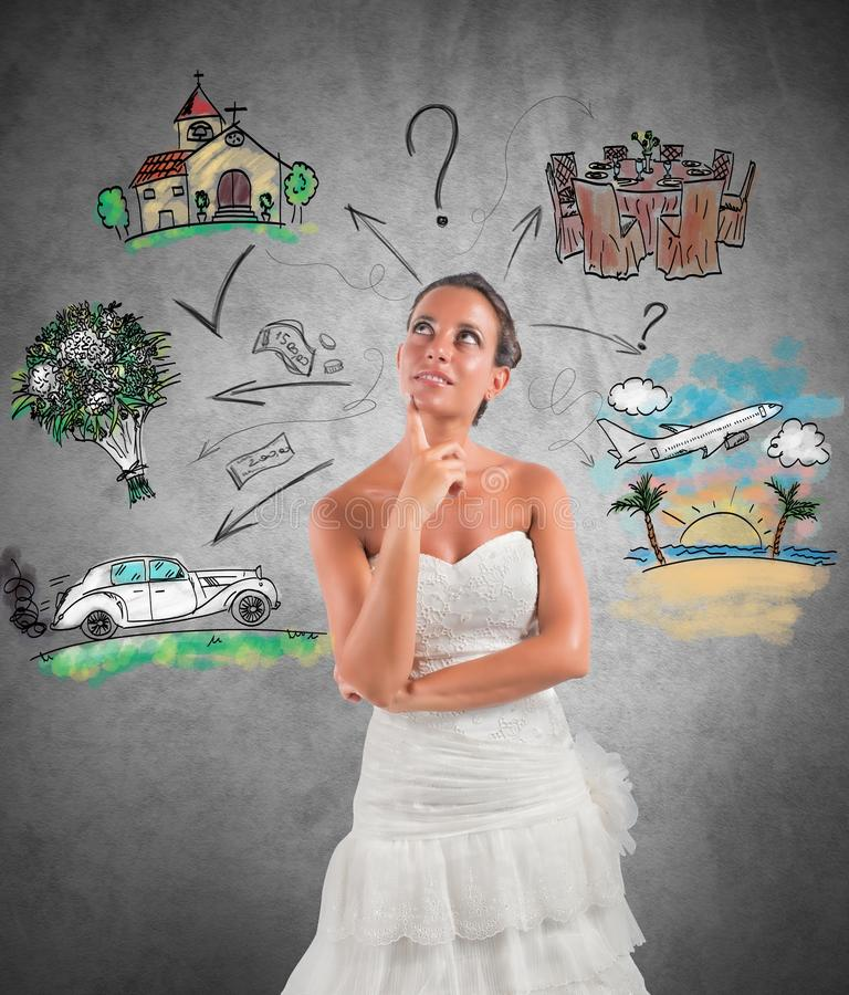 Planificateur de mariage photographie stock libre de droits