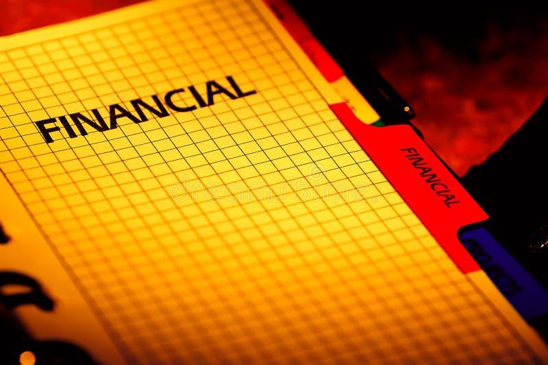 Planificateur financier image stock
