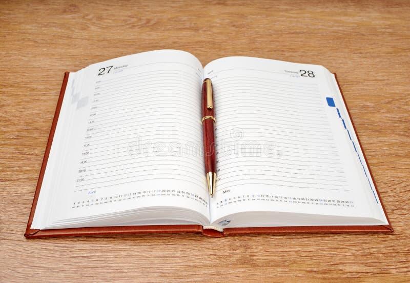Planificateur quotidien image stock