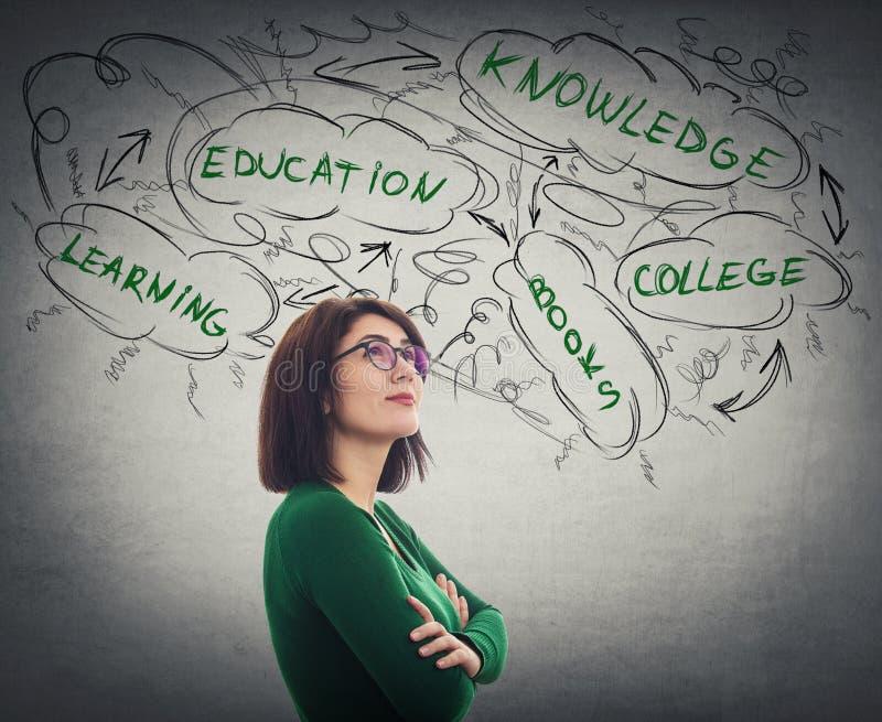 Planification d'éducation d'étudiant images stock