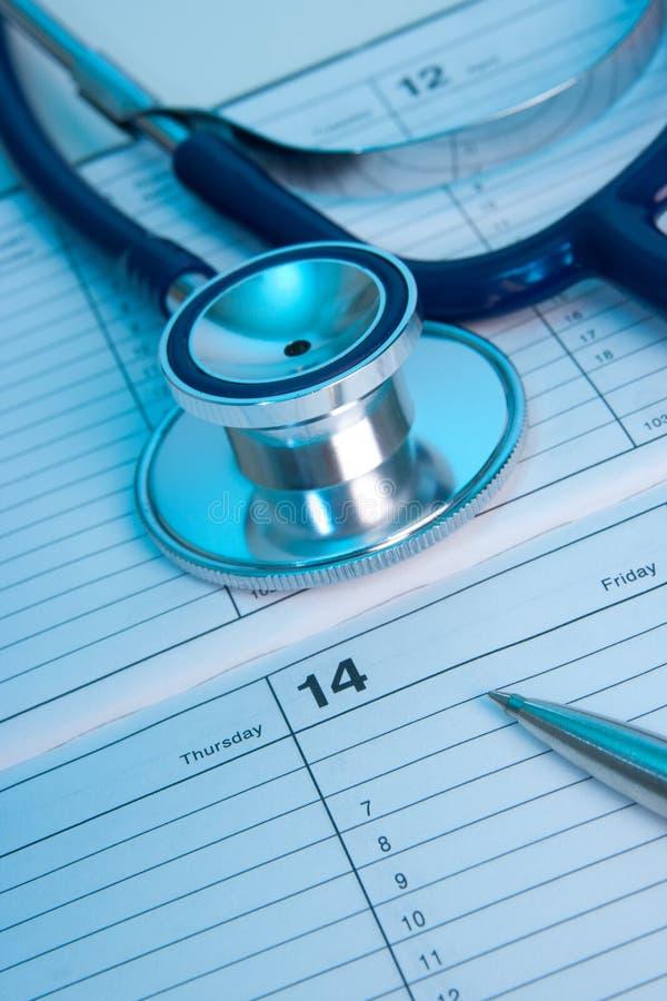 Planification d'examen médical photographie stock libre de droits