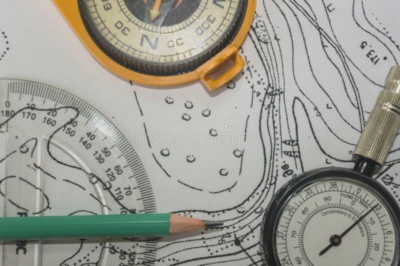 Planification d'un itinéraire de touristes image stock