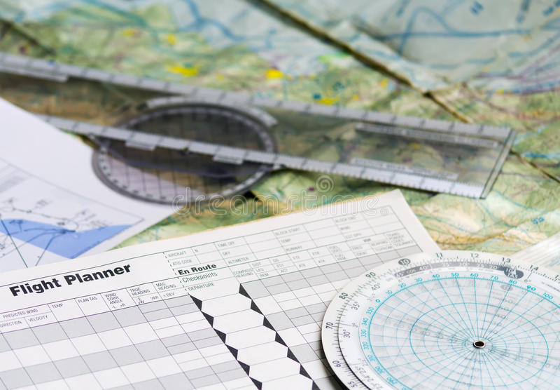 Planification d'un vol photos libres de droits