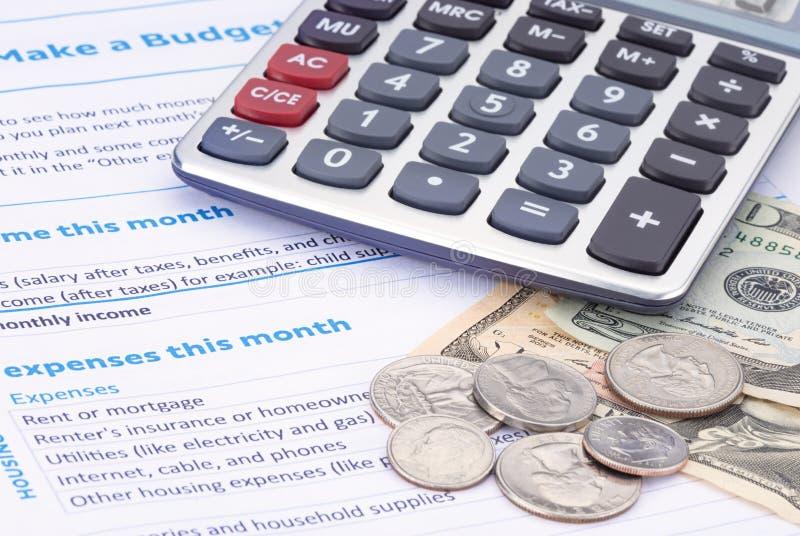 Planification de budget de ménage photos stock